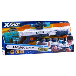 X-Shot Excel- Hawk Eye (5 Cans, 12 Darts)