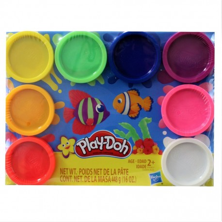 Play Doh 8-Pack Rainbow Non-Toxic Modeling Compound with 8 Colors