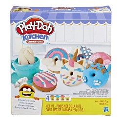 Play Doh Kitchen Creations Delightful Donuts Set with 4 Colors