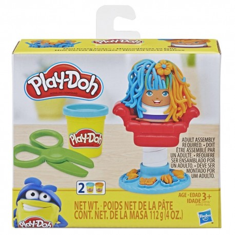 Play Doh Mini Classics Crazy Cuts Barbershop Toy with 2 Non-Toxic Colors
