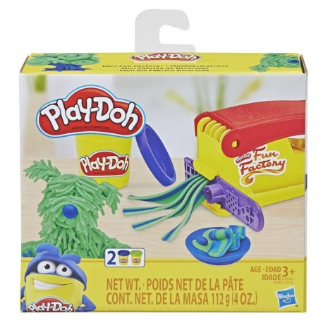 Play-Doh Mini Fun Factory Shape Making Toy with 2 Non-Toxic Colors