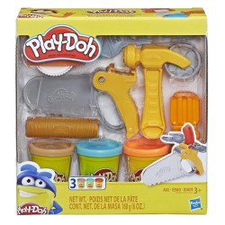 Play Doh Toolin' Around Toy Tools Set for Kids with 3 Non-Toxic Colors