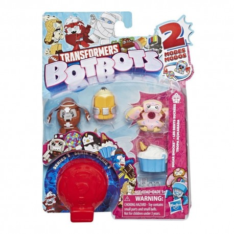 Transformers BotBots Toys Series 1 Sugar Shocks 5-Pack - Mystery 2-In-1 Figures