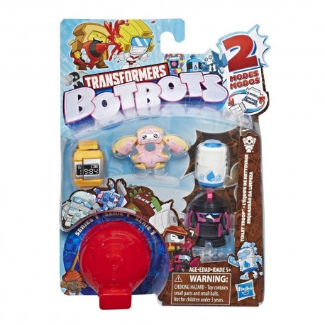 Transformers BotBots Toys Series 1 Toilet Troop 5-Pack - Mystery 2-In-1 Figures