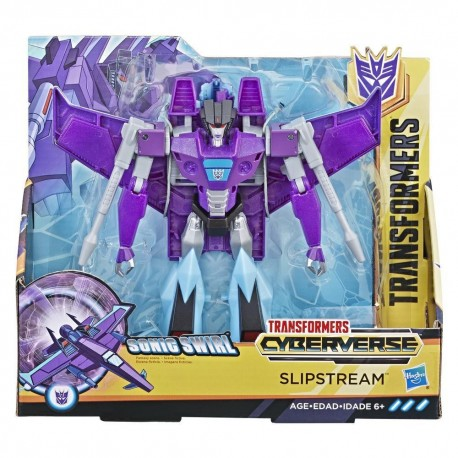 Transformers Cyberverse Action Attackers: Ultra Class Slipstream Action Figure Toy