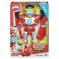 Playskool Heroes Transformers Rescue Bots Academy Mega Mighties Hot Shot Collectible 10-Inch Robot Action Figure
