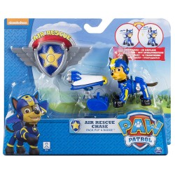 Paw Patrol Air Rescue Pack Pup and Badge Asst - Chase