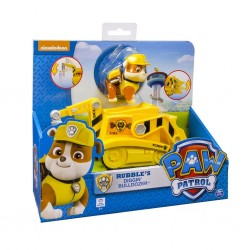 Paw Patrol Basic Vehicle W/Pup - Rubble Transforming Bulldozer