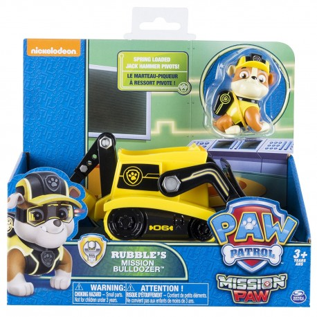 Paw Patrol Themed Vehicle - Rubble's Mission Bulldozer