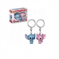 Funko Pocket Pop! Keychain: Disney - Stitch & Angle - 2pk
