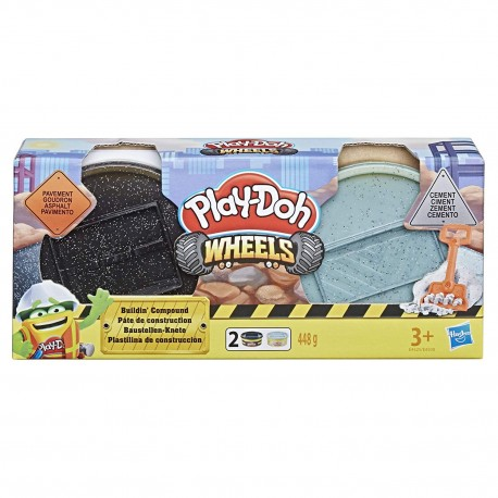 Play Doh Wheels Cement and Stone Pavement Buildin' Compound 2-Pack of 8-Ounce Cans