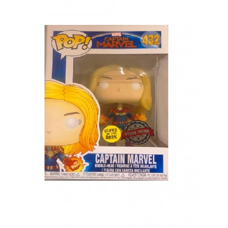 Funko POP! Marvel 432: Captain Marvel (2019) - Captain Marvel (Glow in the Dark) (Special Edition)