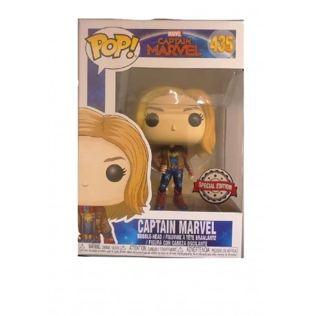 Funko POP! Marvel 435: Captain Marvel (2019) - Captain Marvel in Brown Jacket (Special Edition)