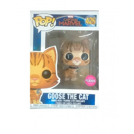 Funko POP! Marvel 426: Captain Marvel (2019) - Goose The Cat (Flocked) (Exclusive)