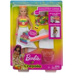 Barbie Crayola Rainbow Fruit Surprise Doll & Fashions