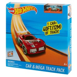Hot Wheels Track Builder Car & Mega Track Pack