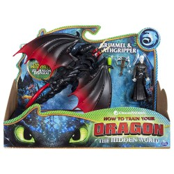 How to Train Your Dragon 3 Dragon & Viking - Grimmel & Deathgripper