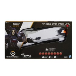 Nerf Rival Overwatch Reaper (Wight Edition) and 8 Overwatch Nerf Rival Rounds