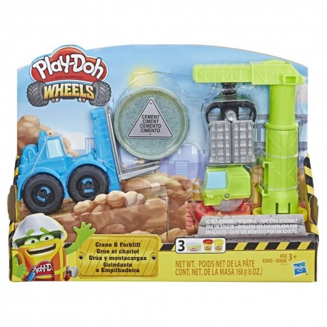 Play Doh Wheels Crane and Forklift