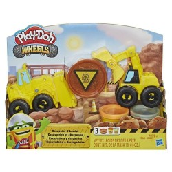 Play Doh Wheels Excavator and Loader Toy Construction Trucks