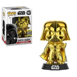 Funko Pop! Star Wars 157: Darth Vader Gold Chrome (Exclusive)