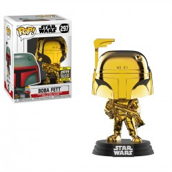 Funko Pop! Star Wars 297: Boba Fett Gold Chrome (Exclusive)