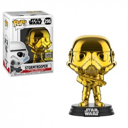 Funko Pop! Star Wars 296: Stormtrooper Gold Chrome (Exclusive)