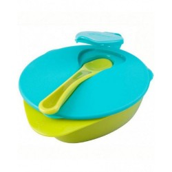 Tommee Tippee Explora Easy Scoop Feeding Bowls (7 Months+) - Lime Green