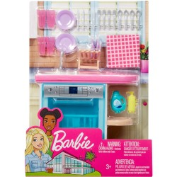 Barbie Indoor Furniture Set with Kitchen Dishwasher