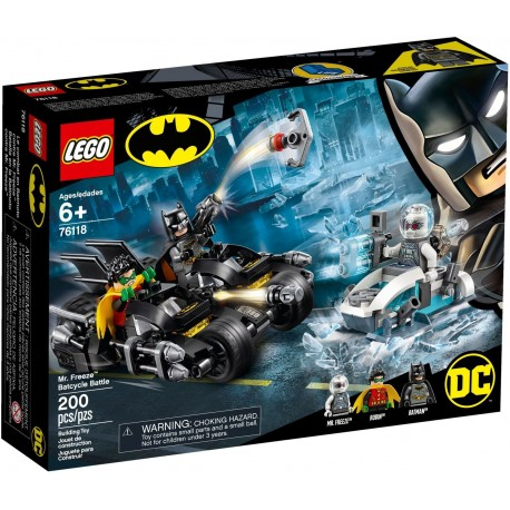 LEGO DC Super Heroes 76118 Mr. Freeze Batcycle Battle