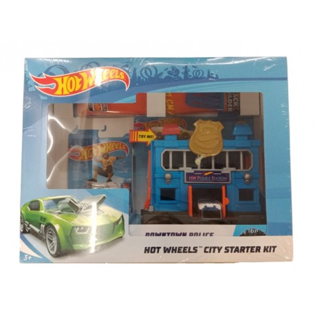 Hot Wheels City Starter Kit Downtown Police Station Breakout