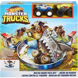 Hot Wheels Monster Trucks Mecha Shark Face-Off Play Set
