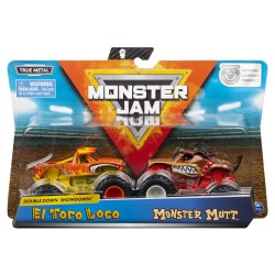 Monster Jam 1:64 2 Packs Double Down Showdown -Monster Mutt