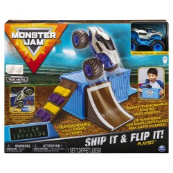 Monster Jam 1:64 Basic Stunt Ship It & Flip It Playset - Alien Invasion