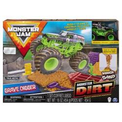 Monster Jam Kinetic Dirt Deluxe Set - Grave Digger