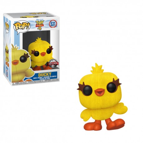 Funko Pop! Disney 531: Toy Story 4 - Ducky (Flocked) (Special Edition)