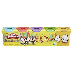 Play Doh Super Gold Pack of 5 Cans