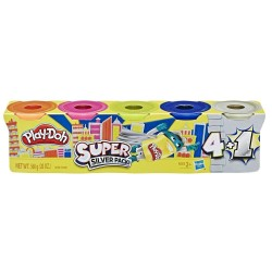 Play Doh Super Silver Pack of 5 Cans
