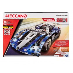 Meccano 25-Model Supercar S.T.E.A.M. Building Kit with LED Lights