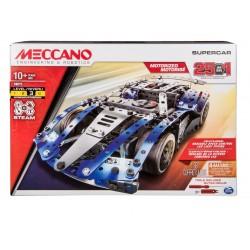Meccano 25-Model Supercar S.T.E.A.M. Building Kit with LED Lights