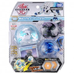 Bakugan Battle Planet 017 Starter Set Vol 1 (Lion White DX, Dragonoid Black, T-Rex Blue)