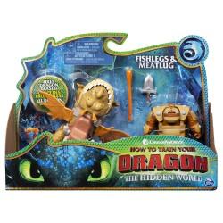 HTTYD 3 Dragon & Viking - Fishlegs & Meatlug