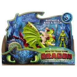 How to Train Your Dragon 3 Dragon & Viking - Ruffnut & Barf & Belch