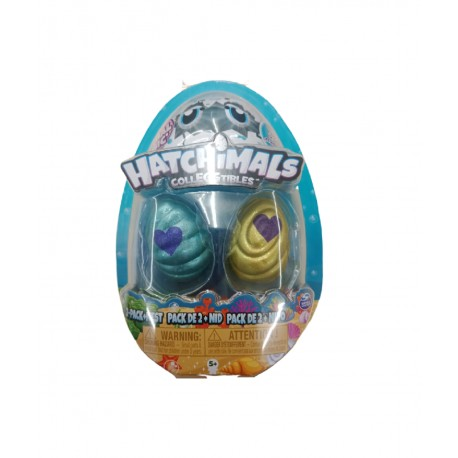 Hatchimals Colleggtibles S5 2 Pack + Nest GML - Blue and Yellow
