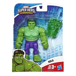 Marvel Playskool Heroes: Marvel Super Hero Adventures Collectible 5-Inch Hulk Action Figure with Gamma Fist Accessory