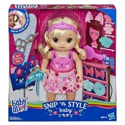 Baby Alive Snip 'n Style Baby Blonde Hair