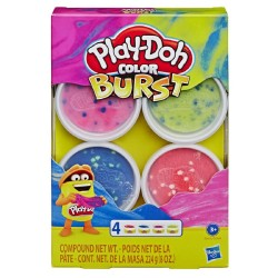 Play Doh Burst Color Pack of 4 Bright Colors