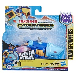 Transformers Cyberverse Action Attackers: 1-Step Changer Sky-Byte Action Figure