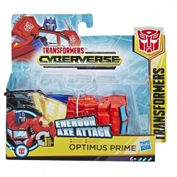Transformers Cyberverse Action Attackers: 1-Step Changer Optimus Prime Action Figure