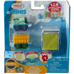 Thomas & Friends MINIS Fizz 'N Go Cargo Chargement Surprise - Percy and Puppy